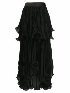 Genny pleated full skirt - Black