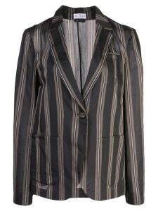 Brunello Cucinelli vertical stripe blazer - Brown