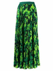 Mr & Mrs Italy camo print pleated skirt - Green