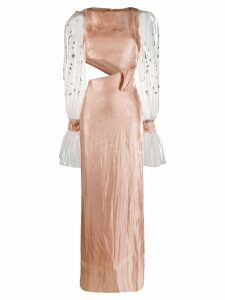 Genny transparent sleeve maxi dress - Pink