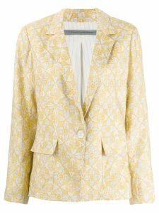 Raquel Allegra block print cargo blazer - Yellow