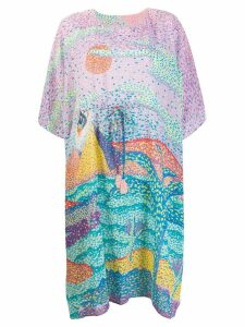 Tsumori Chisato Painting print T-shirt dress - Pink