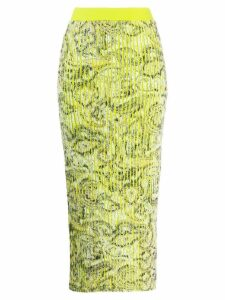 Y/Project printed high-waist skirt - Green