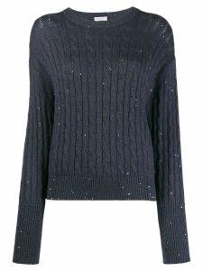 Brunello Cucinelli flared cuff pullover - Blue