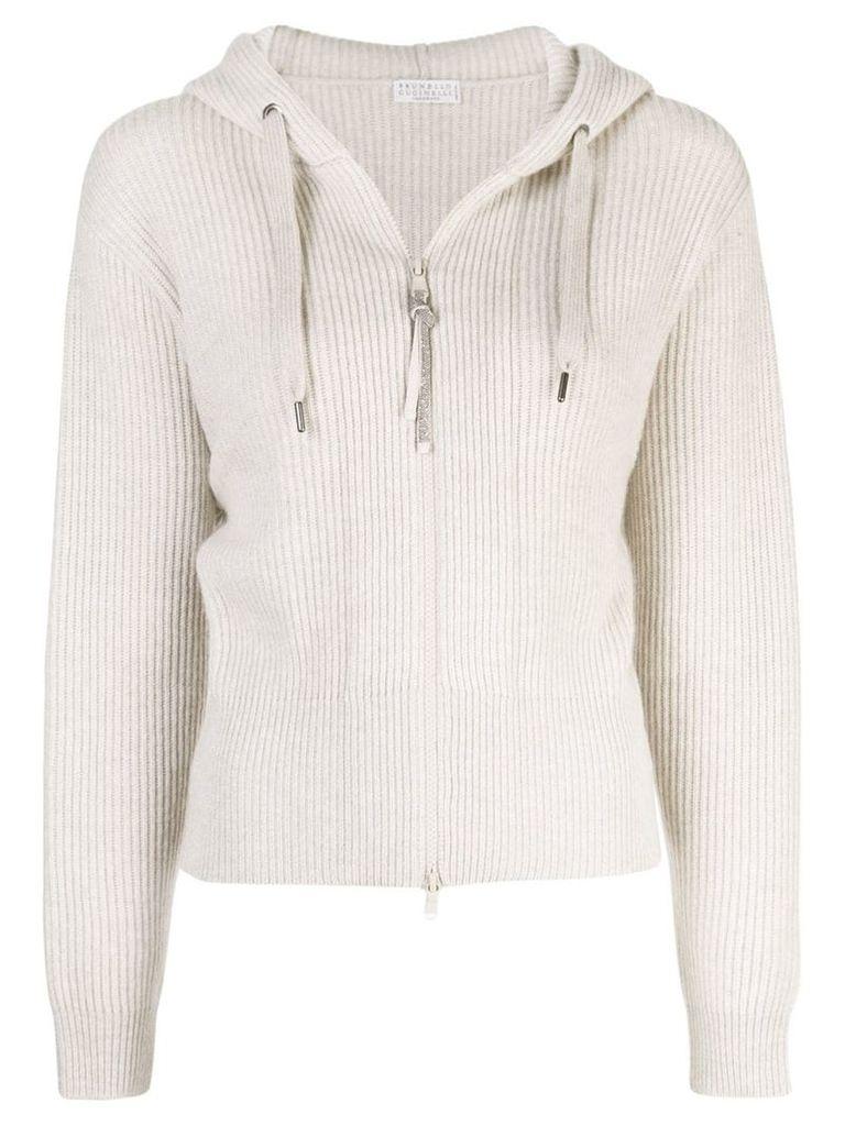 Brunello Cucinelli hooded sweater - Neutrals