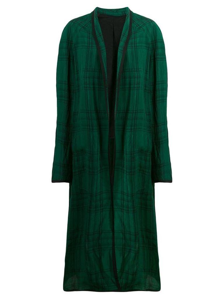 Haider Ackermann check duster coat - Green