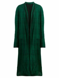 Haider Ackermann check duster coat - Green