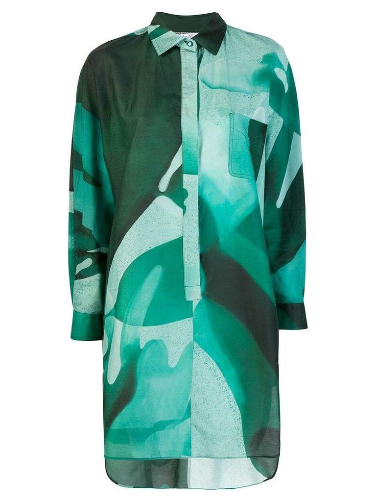 Max Mara graphic print shirt dress - Green