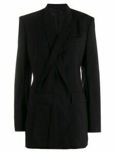 Haider Ackermann slashed lapel jacket - Black