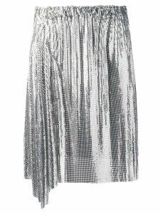 Paco Rabanne draped mini skirt - Silver