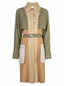 Rosetta Getty grommet sleeve trench - Multicolour
