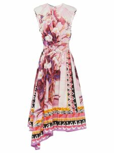 Prada printed poplin dress - Pink
