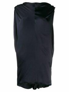 Poiret draped high neck dress - Blue