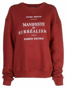 Enfants Riches Déprimés Manifeste du Surréalisme sweatshirt - Red