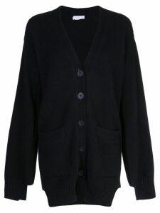 Rosetta Getty paneled cardigan - Black