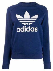 Adidas logo print sweatshirt - Blue