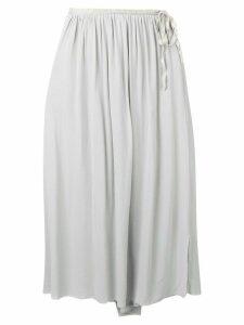 Kristensen Du Nord tie waist ruffle skirt - Grey