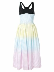 Marine Serre gradient effect flared dress - Multicolour