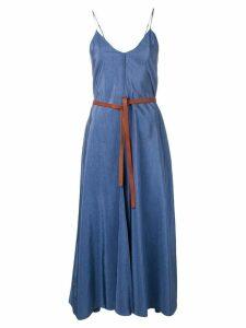 Forte Forte spaghetti strap dress - Blue