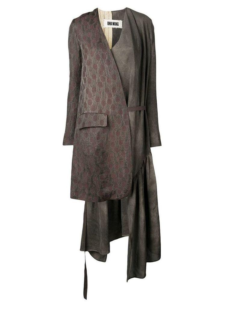 Uma Wang asymmetrical coat - Grey