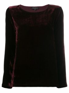 Antonelli velvet loose blouse - Red