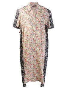 Y/Project patchwork shirt dress - Multicolour
