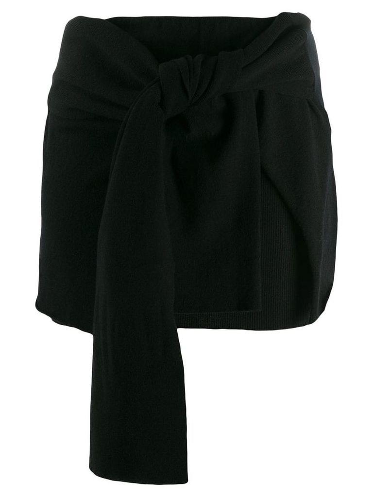 Jacquemus knotted skirt - Black