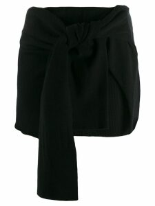 Jacquemus knotted skirt - Black