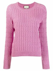 Gucci cable knit sweater - Pink