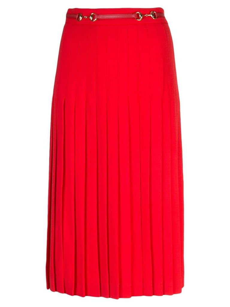 Gucci Pleated wool skirt - Red
