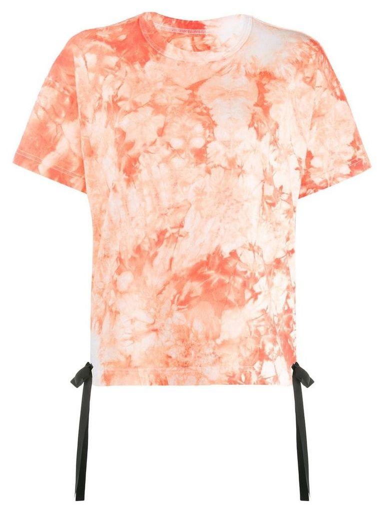 Sacai tie-dye T-shirt - Orange