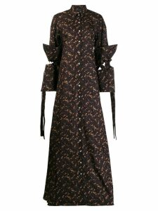 Y/Project floral print shirt dress - Brown