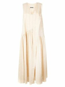 Uma Wang striped day dress - Neutrals