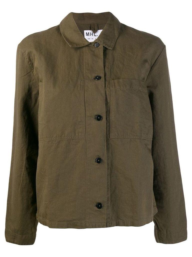 Margaret Howell military shirt jacket - Green