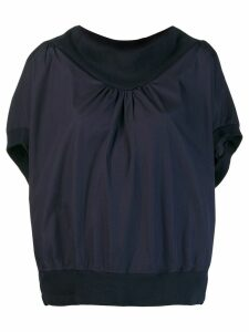 Tsumori Chisato blouse with structured collar - Blue