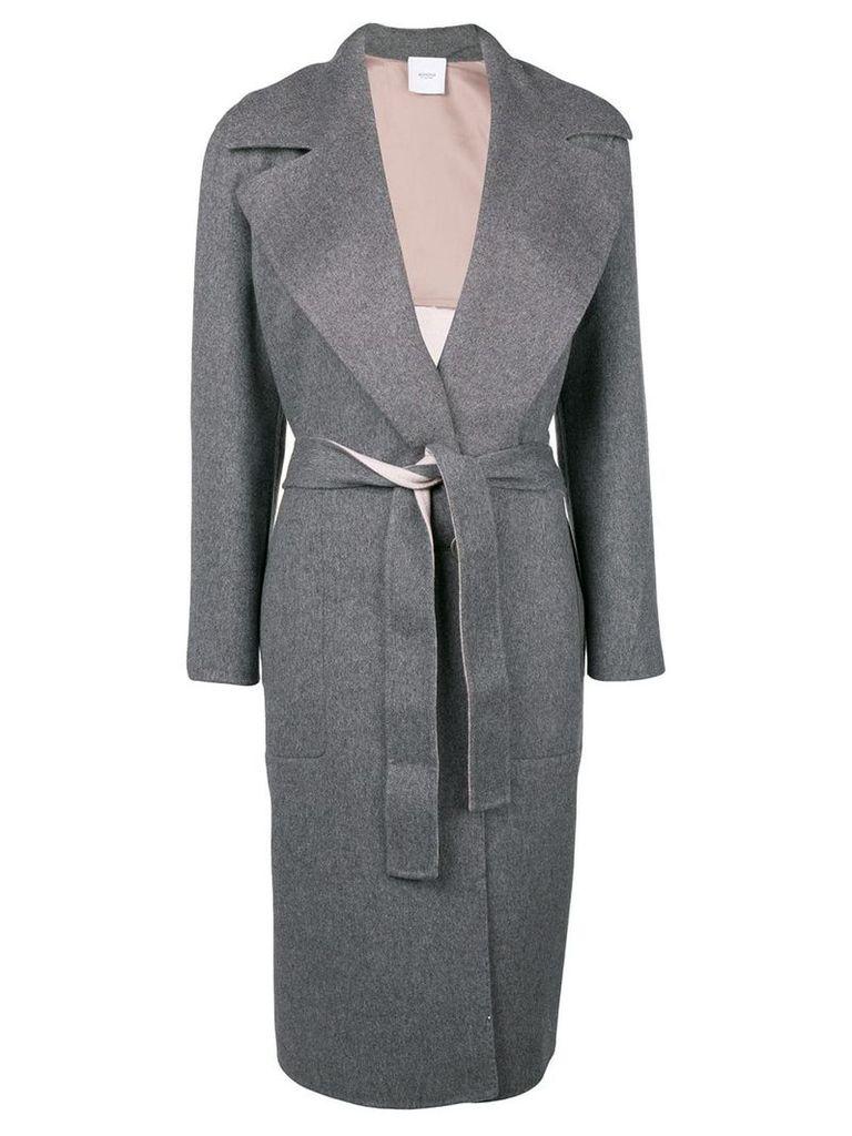 Agnona cashmere belted coat - Grey