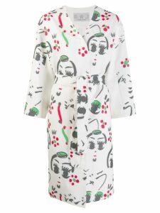 Tsumori Chisato printed kimono coat - White