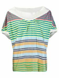 Tsumori Chisato striped T-shirt - Green