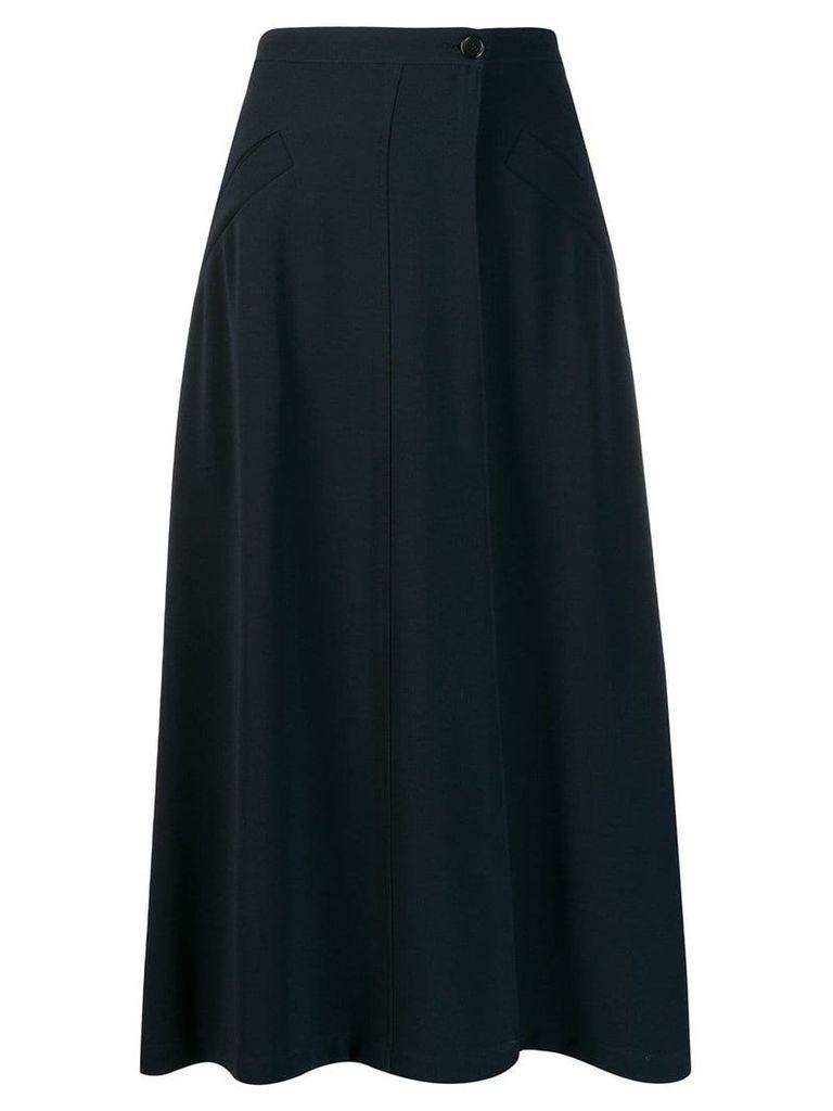 Aspesi high waisted midi skirt - Blue