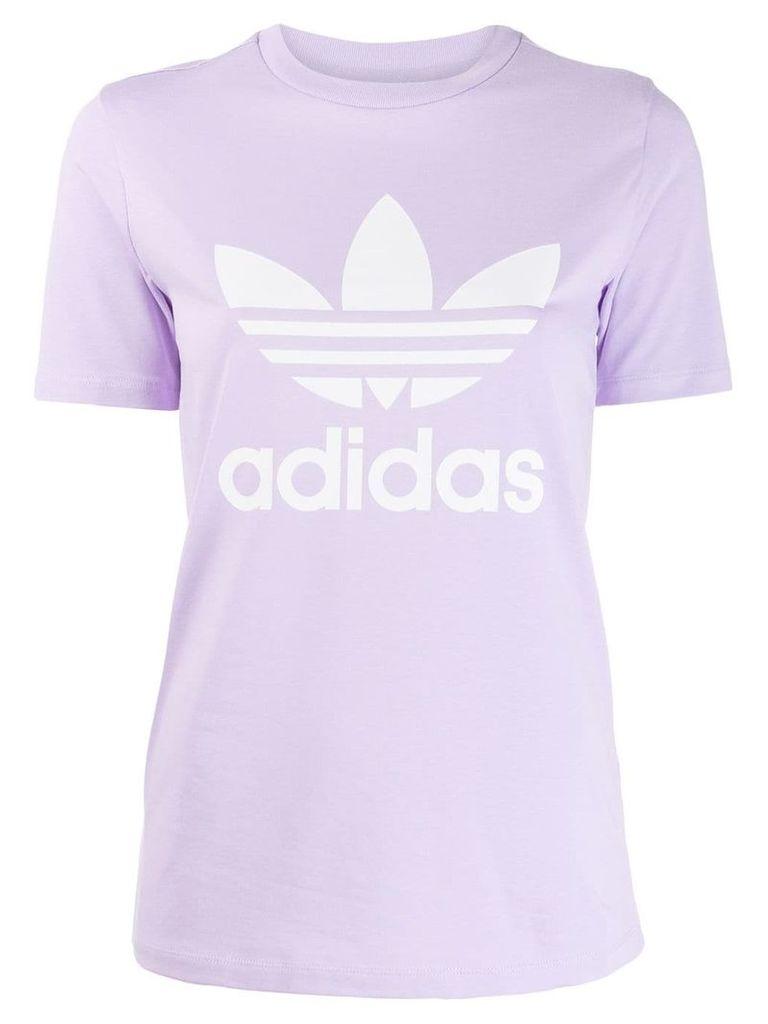 Adidas printed logo T-shirt - Purple