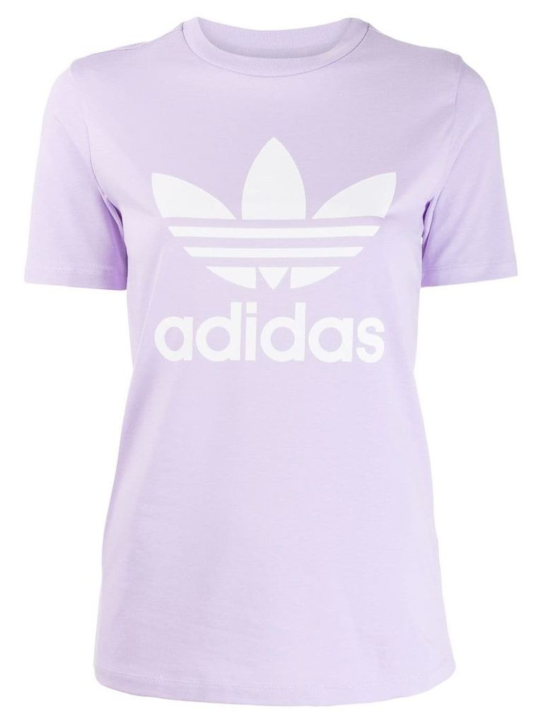 Adidas printed logo T-shirt - Purple