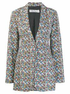 Victoria Beckham floral print blazer - White