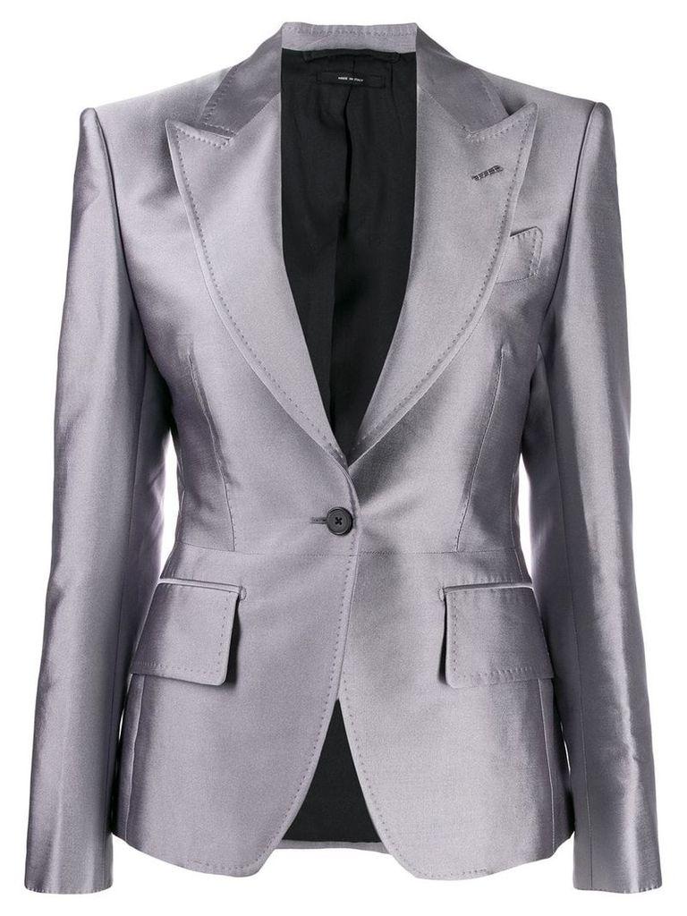 Tom Ford classic single-breasted blazer - Grey