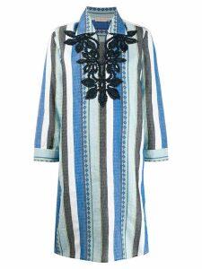 Tory Burch striped tunic dress - Blue