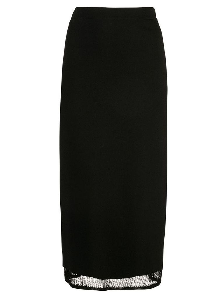 Proenza Schouler Matte Viscose Knit Skirt - Black