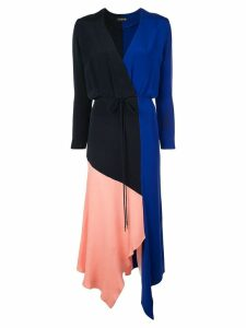 Cushnie panel tied waist dress - Blue