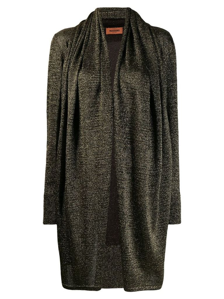 Missoni glitter open front cardigan - Metallic