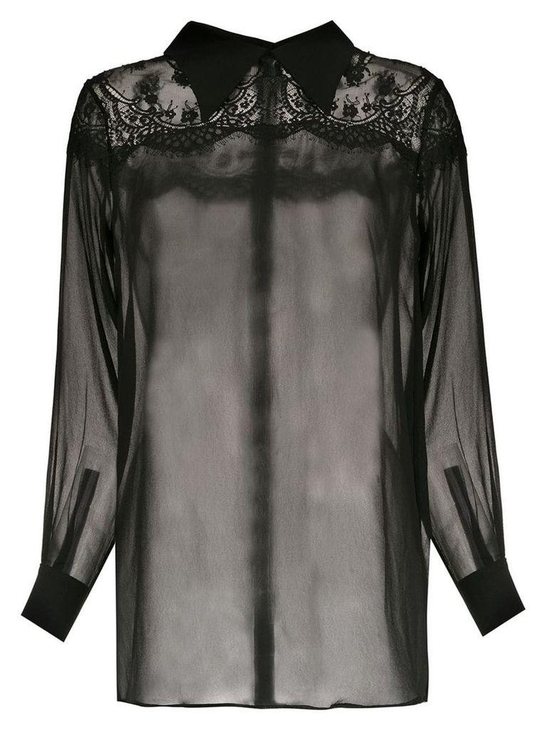 Andrea Bogosian silk sheer shirt - Black