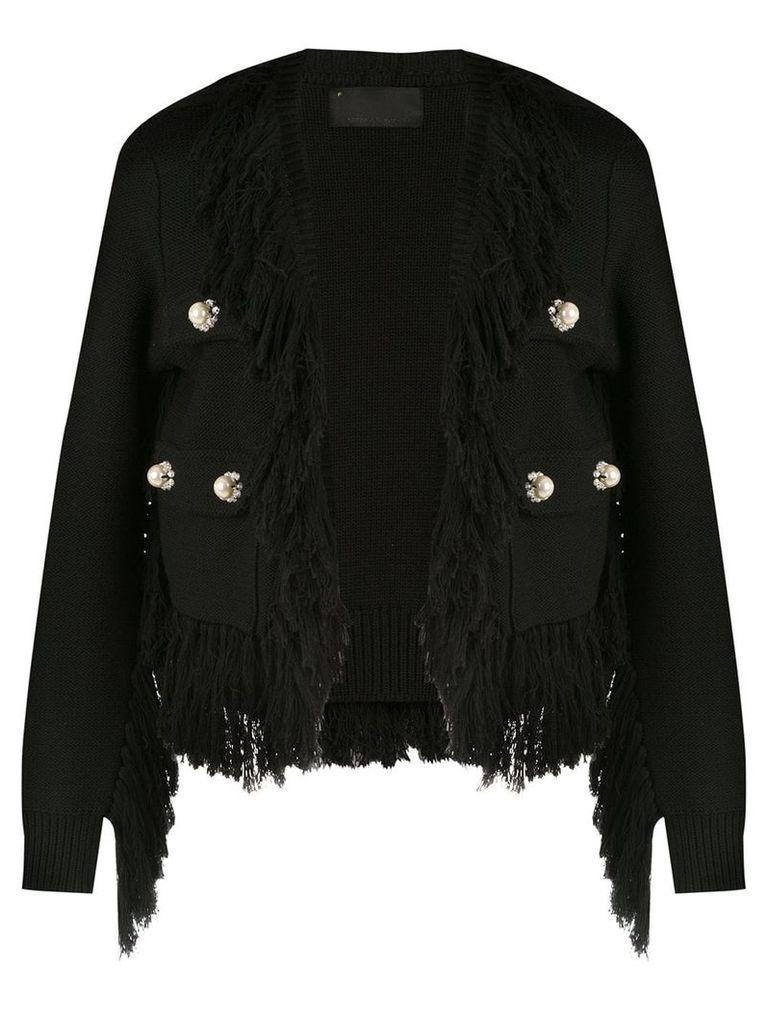 Andrea Bogosian fringed coat - Black
