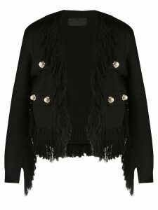 Andrea Bogosian fringed coat - Black